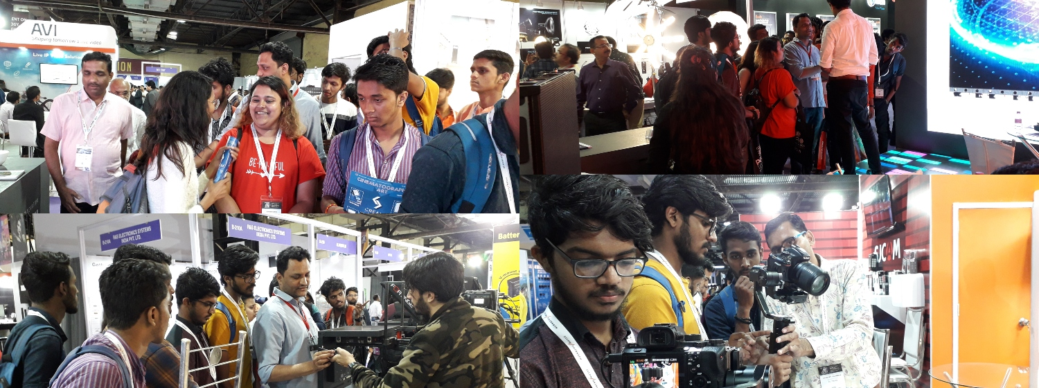 JMC Students visit The Broadcast India Show 2019